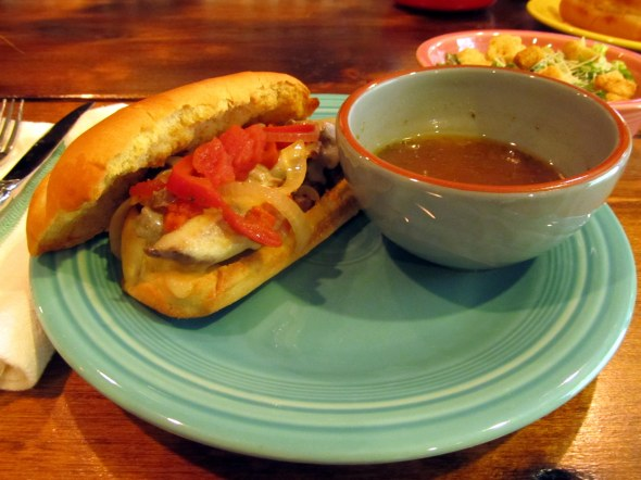 spicy beef dip sandwich